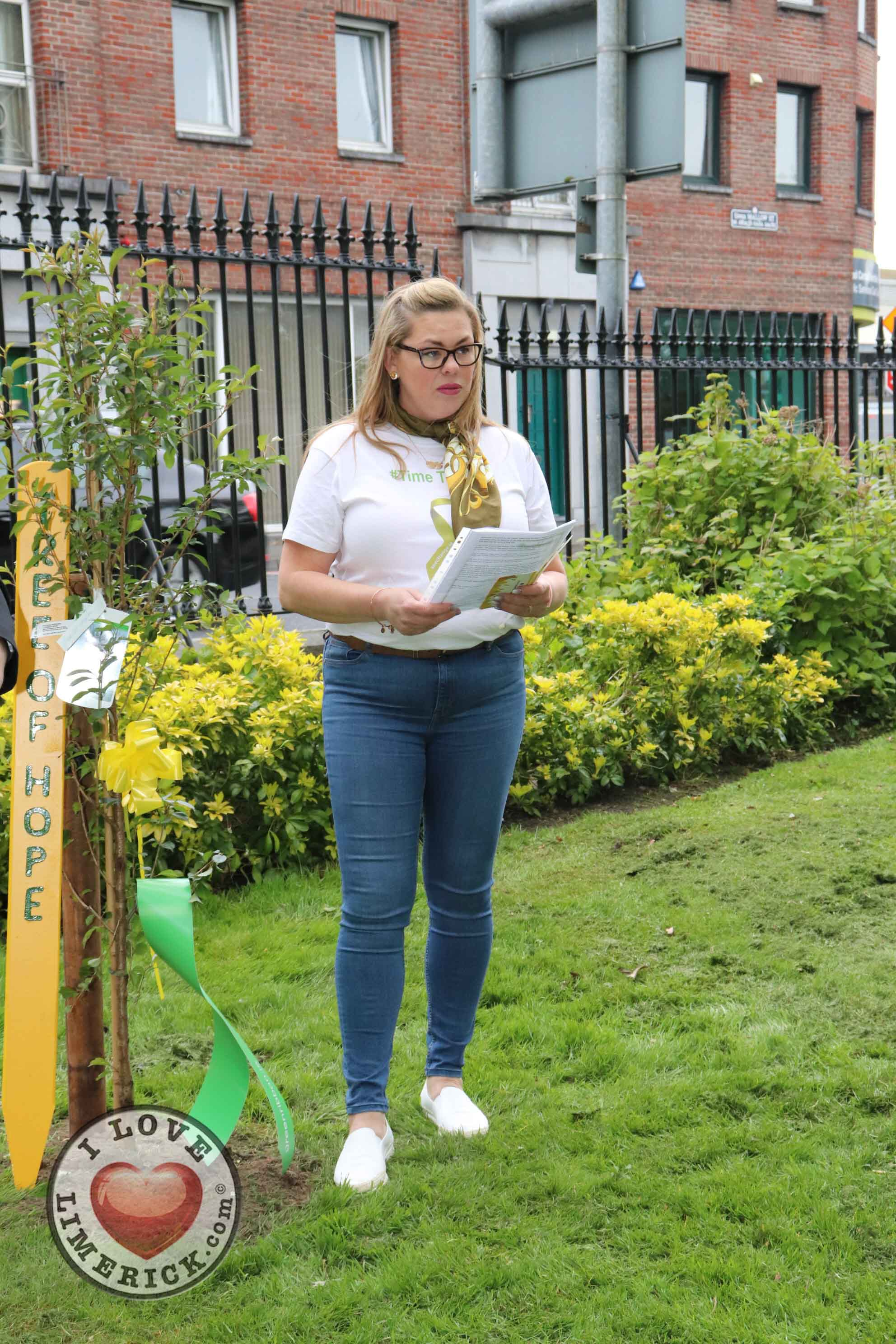 EmployAbility Limerick planted a Tree for Hope in People's Park alongside Dr. Eddie Murphy. Picture: Orla McLaughlin/ilovelimerick.