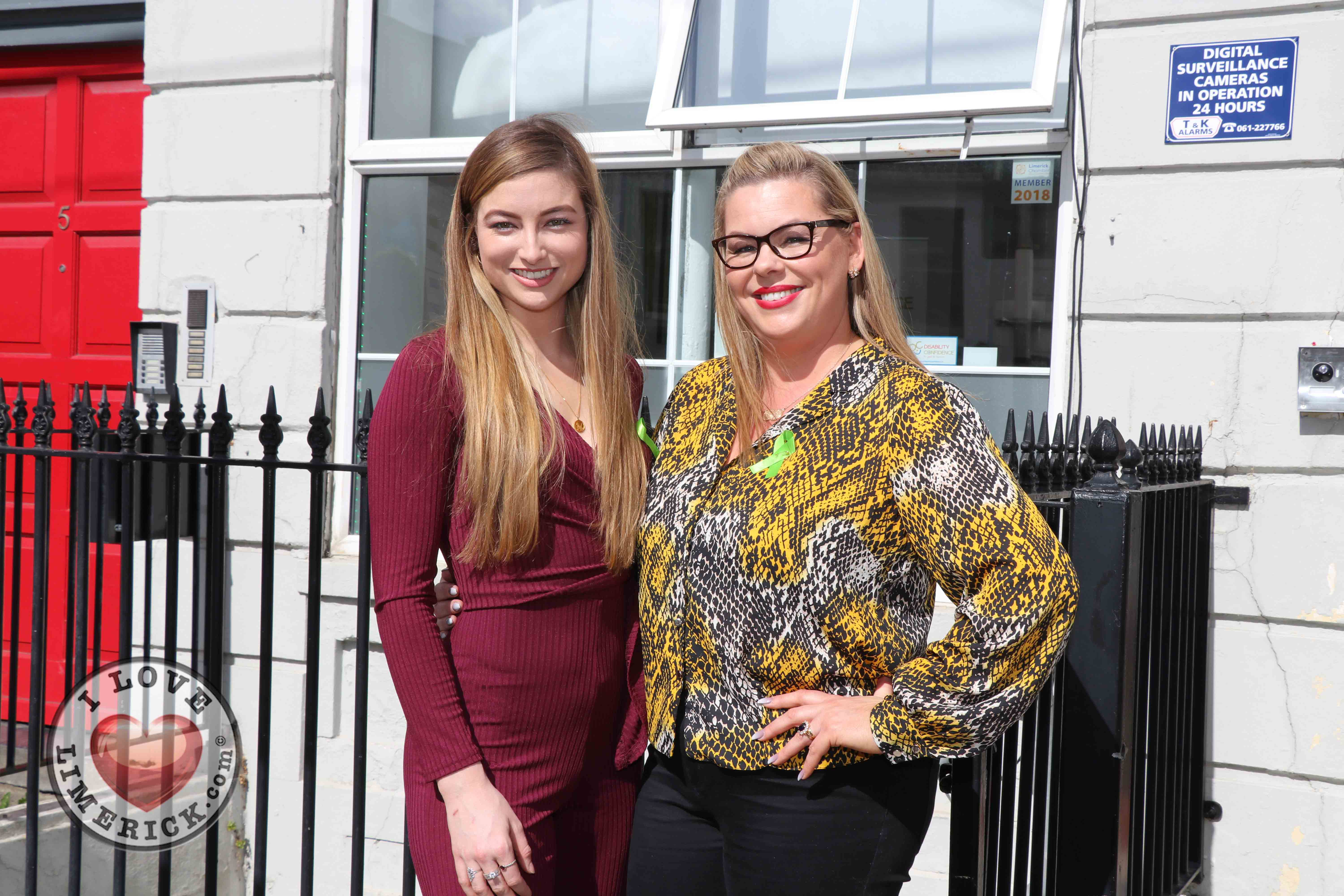 Pictured at the EmployAbility Limerick Office for the launch of the upcoming Green Ribbon campaign and 'Time to talk' day on Tuesday May 7th are Meghann Scully, Mental Health Advocate, and Ursula Mackenzie, EmployAbility Limerick. Picture: Conor Owens/ilovelimerick.