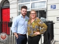 Pictured at the EmployAbility Limerick Office for the launch of the upcoming Green Ribbon campaign and 'Time to talk' day on Tuesday May 7th are Patrick McLoughney, Social Media Influencer, Ursula Mackenzie, EmployAbility Limerick. Picture: Conor Owens/ilovelimerick.