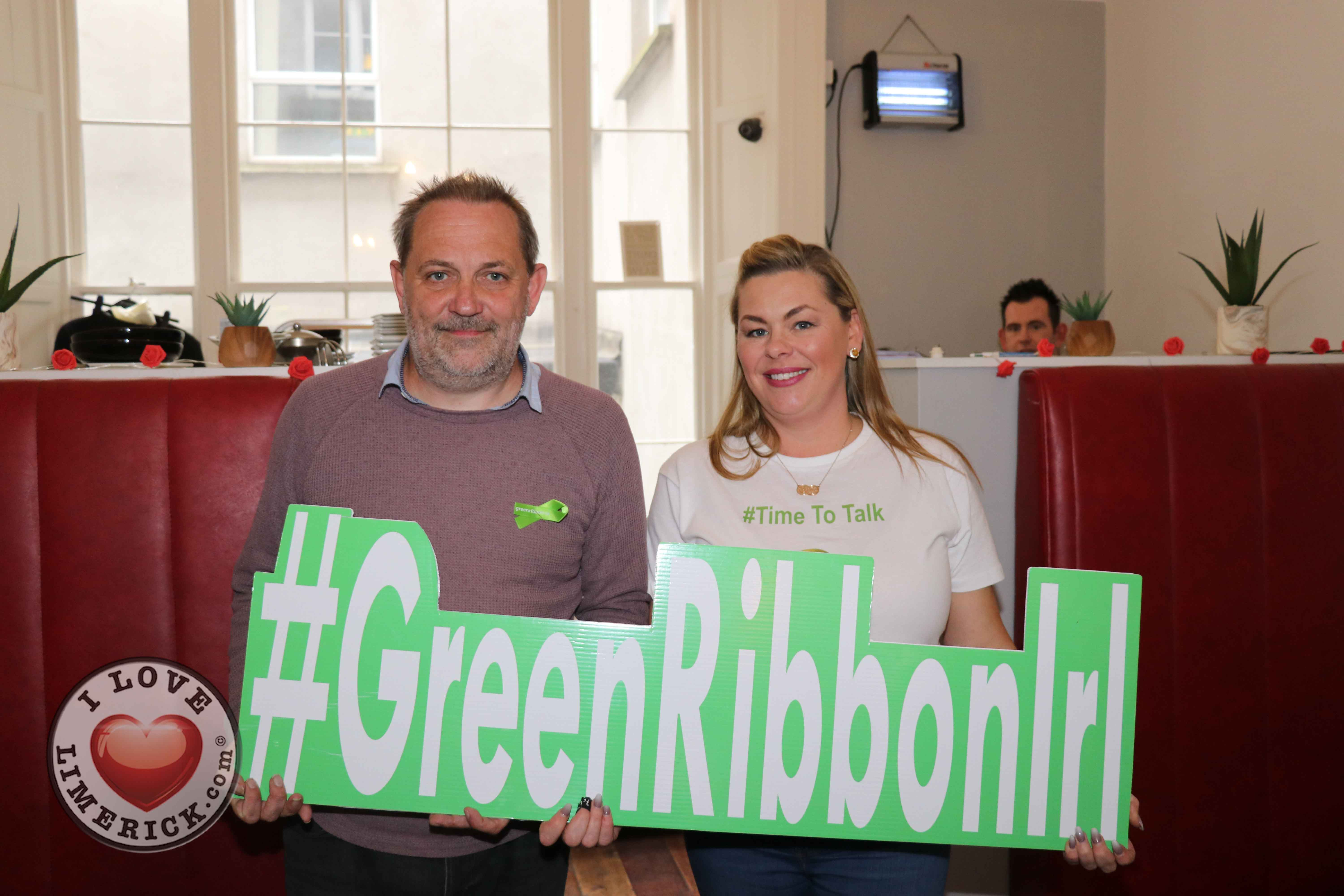 Pictured at the Ruby Sundays cafe for the EmployAbility Limerick's 'Time to Talk' day are life coach Patrick Merice, and Ursula Mackenzie, EmployAbility Limerick. Picture: Conor Owens/ilovelimerick.