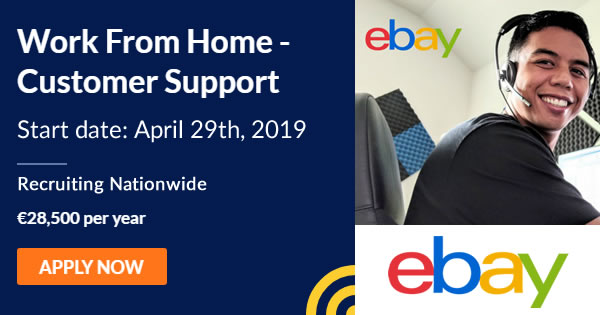 Work From Home With Ebay Customer Support Staff Now Required Right Across The Country Salary 28 500 Per Year Working At Home You Will Interact And Provide Customer Support To Ebay S Uk And