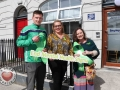 Pictured at the EmployAbility Limerick Office for the launch of the upcoming Green Ribbon campaign and 'Time to talk' day on Tuesday May 7th are Kevin Downes, Limerick Senior hurler, Ursula Mackenzie, EmployAbility Limerick, and Amanda Clifford, A.B.C for Mental Health. Picture: Conor Owens/ilovelimerick.