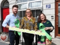 Pictured at the EmployAbility Limerick Office for the launch of the upcoming Green Ribbon campaign and 'Time to talk' day on Tuesday May 7th are Patrick McLoughney, Social Media Influencer, Ursula Mackenzie, EmployAbility Limerick, and Amanda Clifford, A.B.C for Mental Health. Picture: Conor Owens/ilovelimerick.